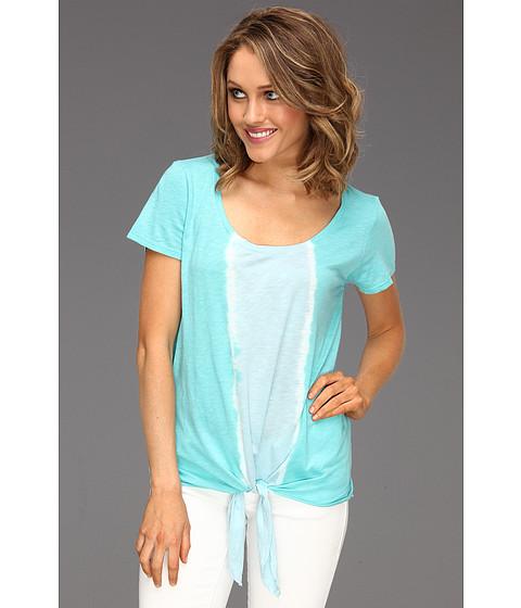 Bluze Michael Stars - Vertical Stripe Tie Dye Tee - Maldives Green/Chateau