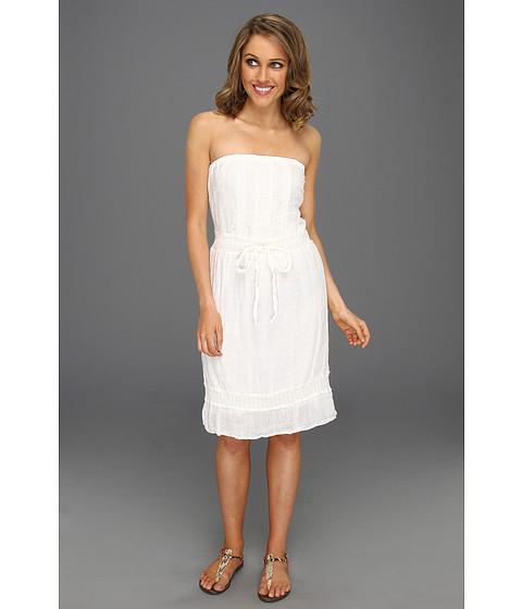 Rochii Michael Stars - Textured Cotton Strapless Crochet Dress - White