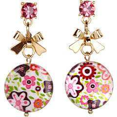 Bijuterii Betsey Johnson Mother of Pearl Flower Drop Earrings Multi | mycloset.ro