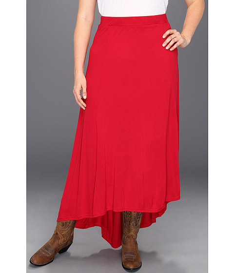 Fuste Roper - Plus Size Hot House Blooms Hi Low Skirt - Red