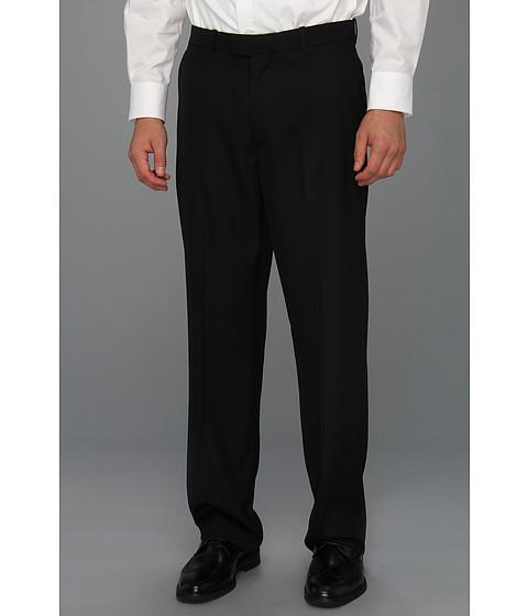 Pantaloni Perry Ellis - Classic Fit Flat Front Sharkskin Pant - Black Ice