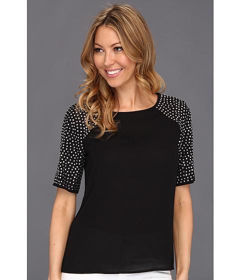 Tricouri Calvin Klein - Studded Blouse - Black