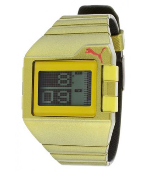 Ceasuri PUMA - Puma Watch Pu910861006 Mens Donââ¬â¢t Run Out Of Steam Gray Dial Gold Rubber - Multicolor