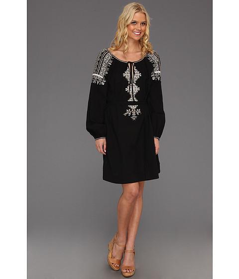 Rochii BCBGMAXAZRIA - Amber Embroidered Peasant Dress - Black Combo