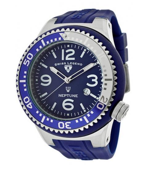 Ceasuri Swiss Legend - Swiss Legend Watch 21818s-f-ic Mens Neptune Blue Dial Blue/white Bezel Blue - Multicolor