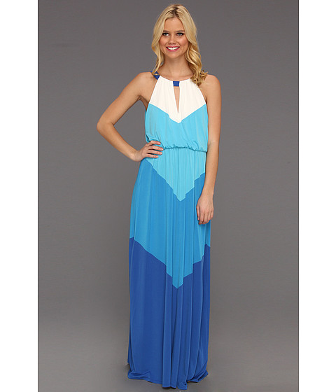 Rochii Vince Camuto - Batwing Jersey Colorblock Maxi Dress - Blue