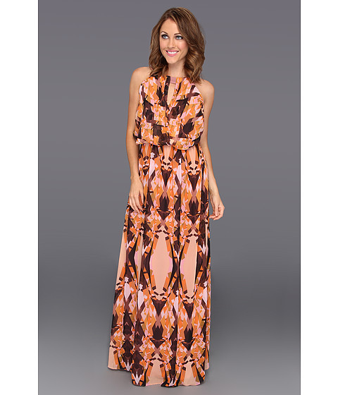 Rochii Vince Camuto - Batwing Printed Maxi Dress - Sunset