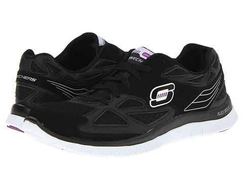 Adidasi SKECHERS - Flex Appeal-Align - Black Suede/White