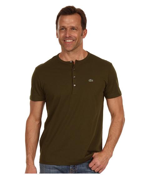 Tricouri Lacoste - S/S Pima Cotton Henley T-Shirt - Tortuga Green