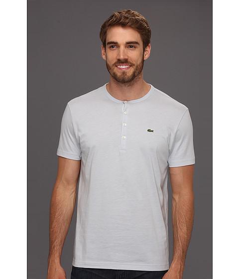 Tricouri Lacoste - S/S Pima Cotton Henley T-Shirt - Seawave Blue