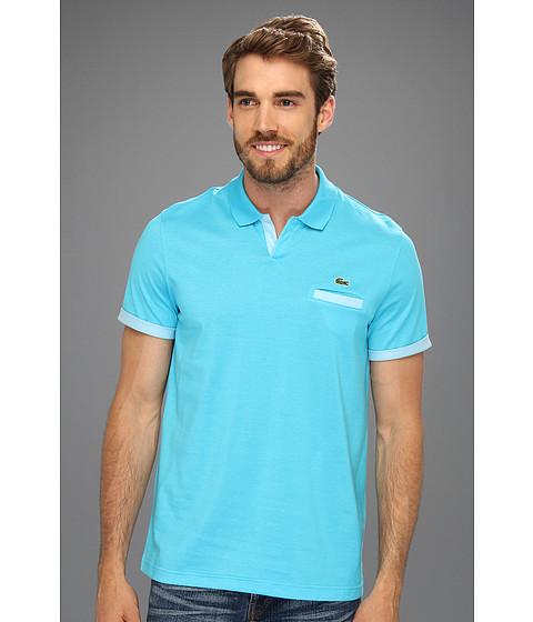 Tricouri Lacoste - S/S Double Face Jersey Johnny Collar Polo - Hawaiian Blue/White