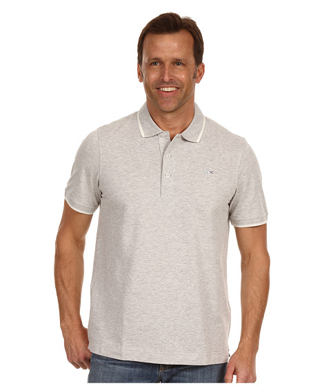 Tricouri Lacoste - S/S Super Light Semi Fancy Polo - Fog Grey Chine/White