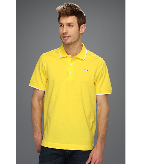 Tricouri Lacoste - S/S Super Light Semi Fancy Polo - Primrose Yellow/White