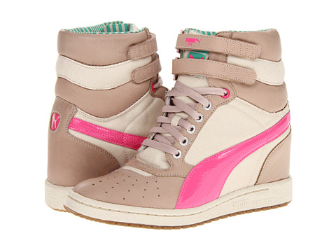 Adidasi PUMA - Sky Wedge LC Wn\s - Peach Blush/Fluo Pink/Mint Leaf