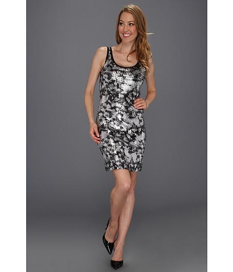 Rochii Karen Kane - Silver Painted Sequin Tank Dress - Black/Silver