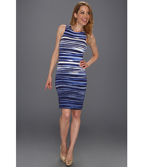 Rochii Karen Kane - Sleeveles Dip Dye Dress - Stripe