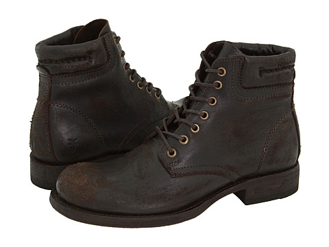 Ghete Frye - Fulton Lace Up - Dark Brown Distressed Leather
