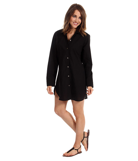 Rochii Tommy Bahama - Crinkle Cotton Lawn Boyfriend Shirt - Black