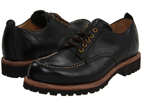 Pantofi Frye - Dakota Oxford - Black Pebbled Full Grain