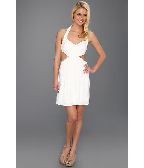 Rochii BCBGMAXAZRIA - Shea Halter Cutout Cocktail Dress - White