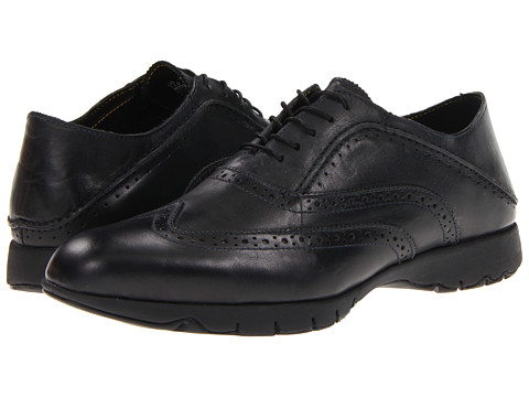 Pantofi Hush Puppies - FIVE-Brogue - Black Leather