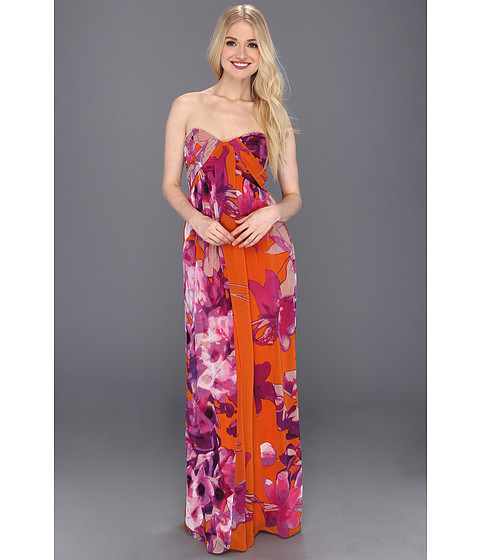 Rochii Jessica Simpson - Sweetheart Drape Maxi Dress - Bleeding Heart Exuberance