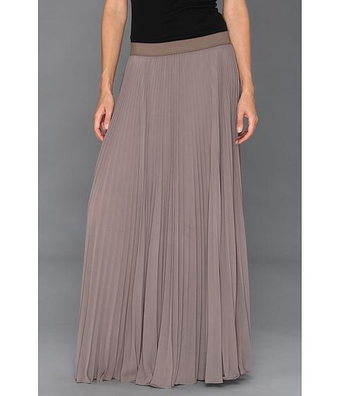 Fuste BCBGMAXAZRIA - Dallin Sunburst Pleated Maxi Skirt - London Fog