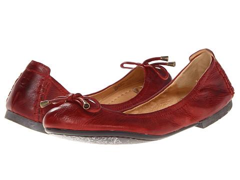 Balerini Frye - Carson Collapsible Ballet - Burnt Red Soft Vintage Leather