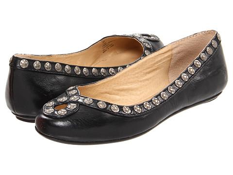Balerini Frye - Emma Hammered Stud - Black Soft Vintage Leather