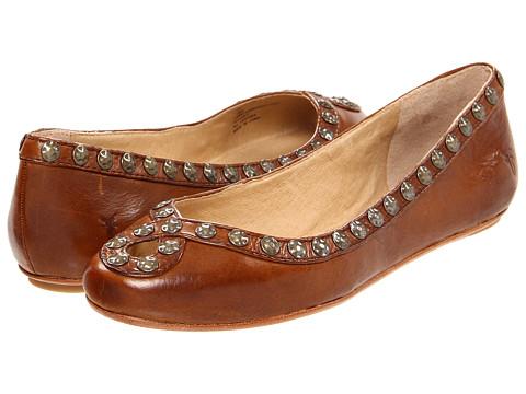 Balerini Frye - Emma Hammered Stud - Cognac Soft Vintage Leather