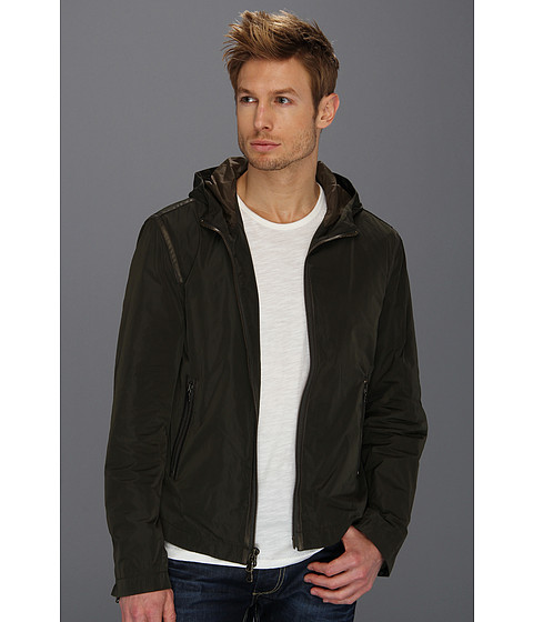 Jachete John Varvatos - Hooded Jacket w/ Taping - Dark Moss