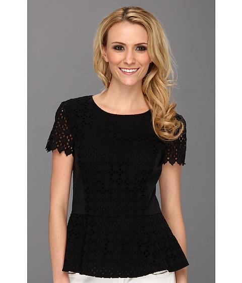 Tricouri DKNY - S/S Blouse w/ Stretch Poplin - Black