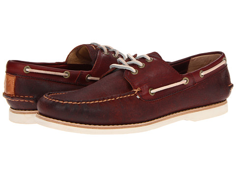 Pantofi Frye - Sully Boat - Burnt Red Oiled Suede