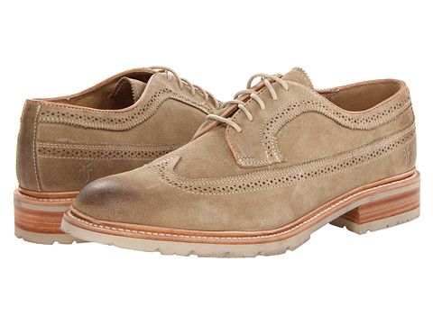 Pantofi Frye - James Lug Wingtip - Sand/Suede
