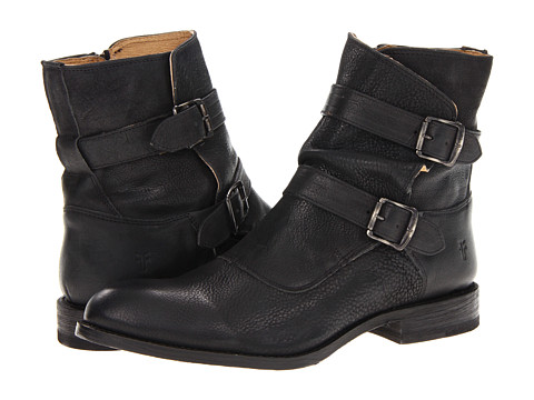 Ghete Frye - Jayden Moto - Black Distressed Nubuck