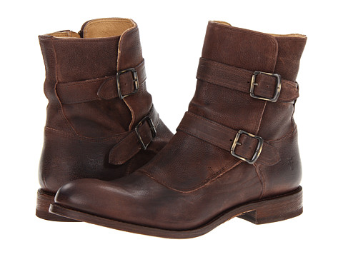 Ghete Frye - Jayden Moto - Dark Brown Distressed Nubuck