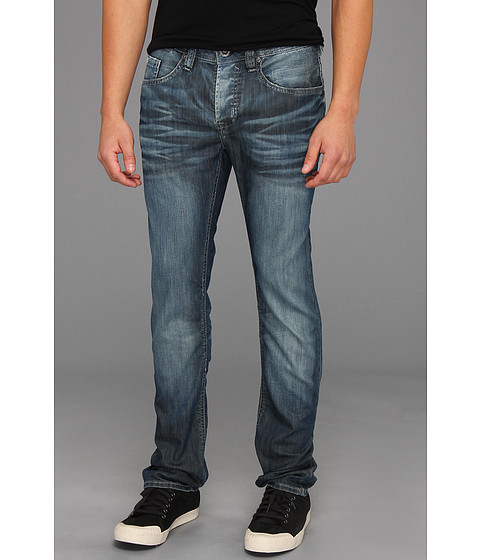 Blugi Buffalo David Bitton - Evan Super Slim Leg Basic Jean in Authentic Wash and Worn - Authentic Wash and Worn
