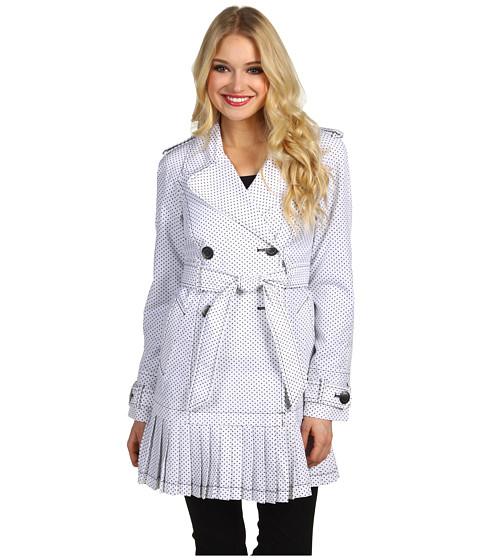Jachete Ivanka Trump - Pleated Skirt Trench Coat - Polka Dot