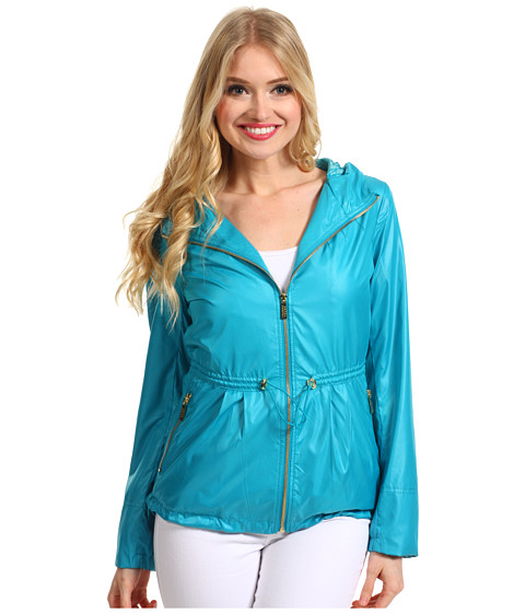 Jachete Ivanka Trump - Short Coated Poly Anorak - Aqua