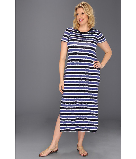 Rochii Michael Kors - Plus Size Kyoto Stripe Long Dress - Dark Midnight