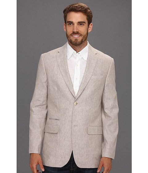 Jachete Perry Ellis - Linen Cotton Suit Jacket - Natural