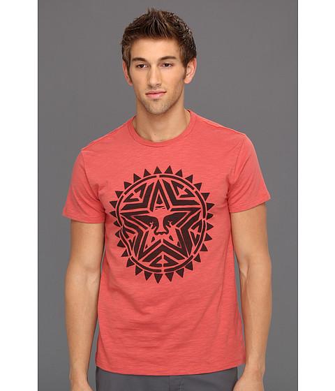 Tricouri Obey - Aztec Stencil Slub Tee - Mineral Red