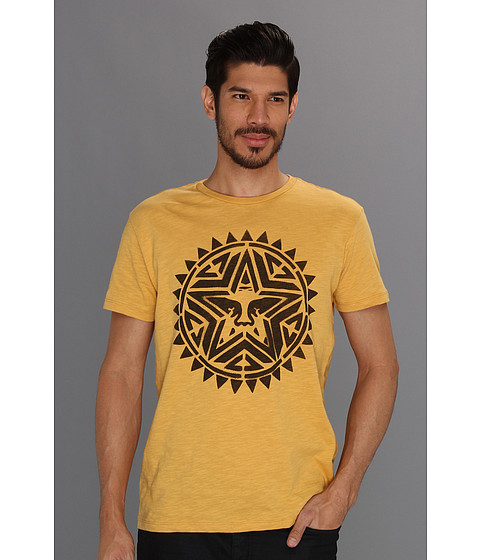 Tricouri Obey - Aztec Stencil Slub Tee - Honey Gold