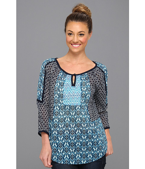 Bluze Lucky Brand - Huxley Baligeos 3/4 Sleeve Top - Navy Multi