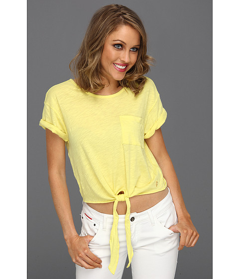 Bluze Juicy Couture - Solid Slub Crop Top - Meringue