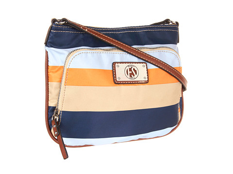 Posete Franco Sarto - Goodman Nylon Crossbody - Awning Stripe Bluettt