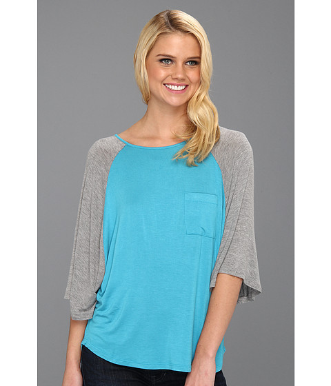 Bluze Culture Phit - Chappell Baseball Tee - Turquoise