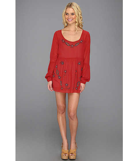 Rochii Free People - Star In Dust Embellished Dress - Red