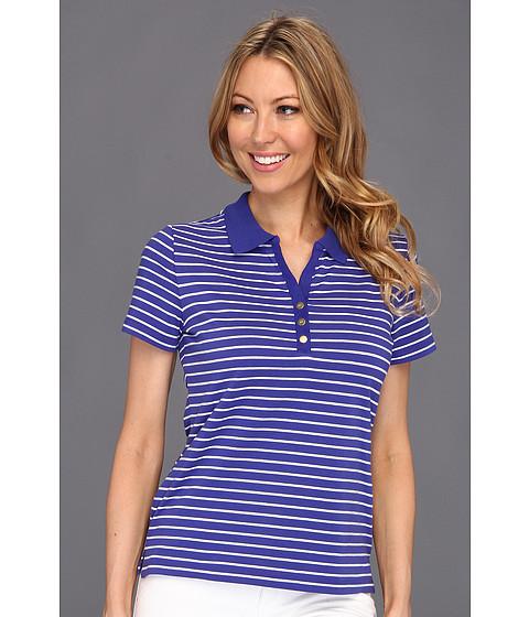 Tricouri AK Anne Klein - Short Sleeve Polo w/Logo Snaps - Clematis Blue/White