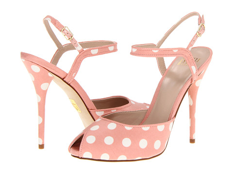 Pantofi Truth or Dare By Madonna - Lodie - Pink/White/Polka Dot Fabric